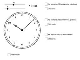 Kąt między wskazówkami zegara