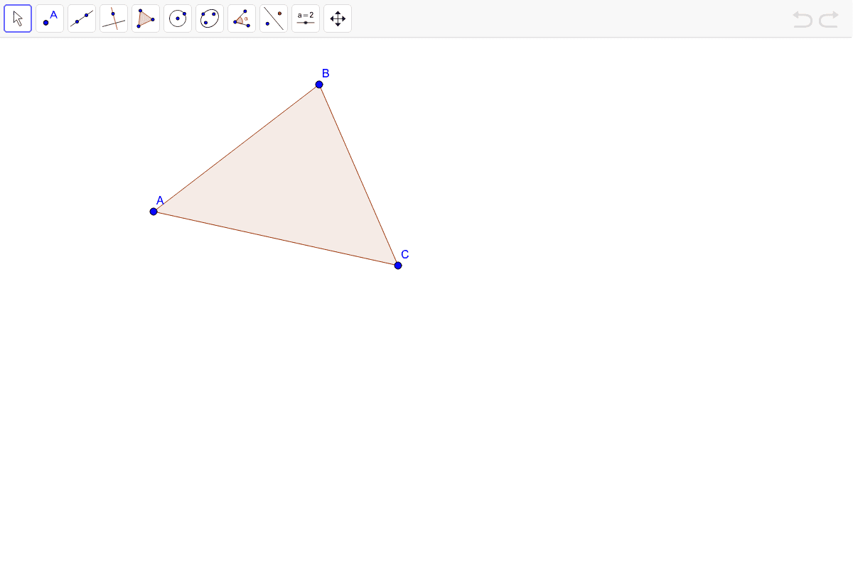 Construct all of the angle bisectors in the triangle below. Press Enter to start activity
