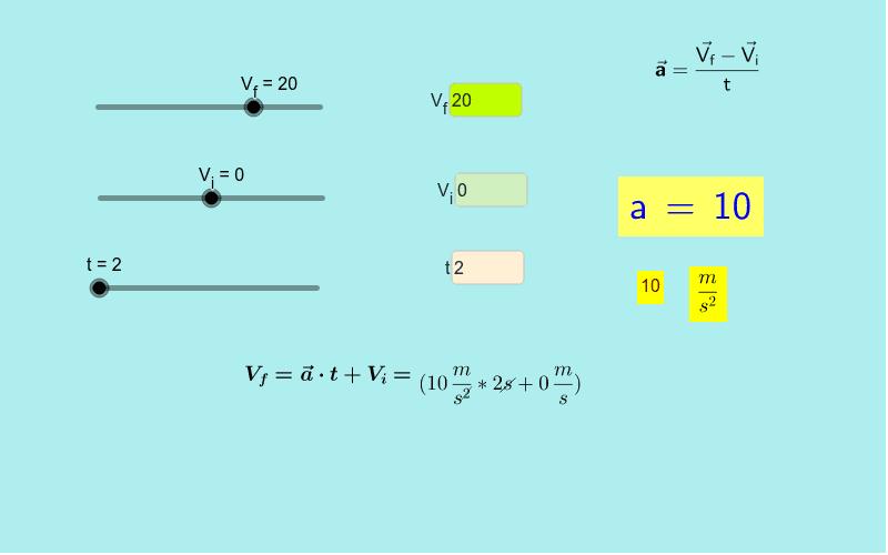 Ecuación de la aceleración Presiona Intro para comenzar la actividad