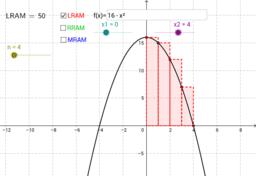 Riemann Sums - Rectangular Approximation (LRAM, RRAM, MRAM)