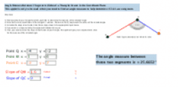 Slope to Angle Measure Calculator (I)