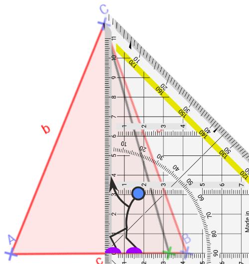 Und auf dem Blatt mit dem Geo-Dreieck?
