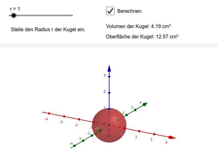 Kugel_3D Drücke die Eingabetaste um die Aktivität zu starten