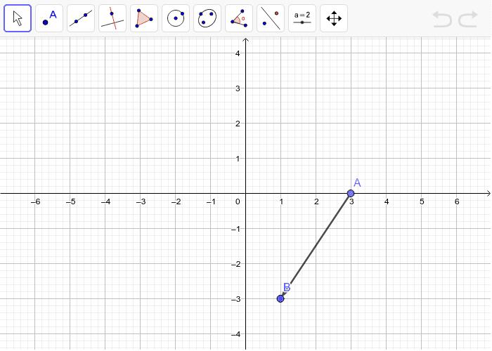 1. Nacrtani je vektor AB, a ti nacrtaj dužinu CD i translatiraj ju za zadani vektor. Pritisnite Enter kako bi pokrenuli aktivnost