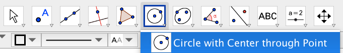 Draw a circle with the incenter as the center and the point of intersection of an angle bisector and a side.