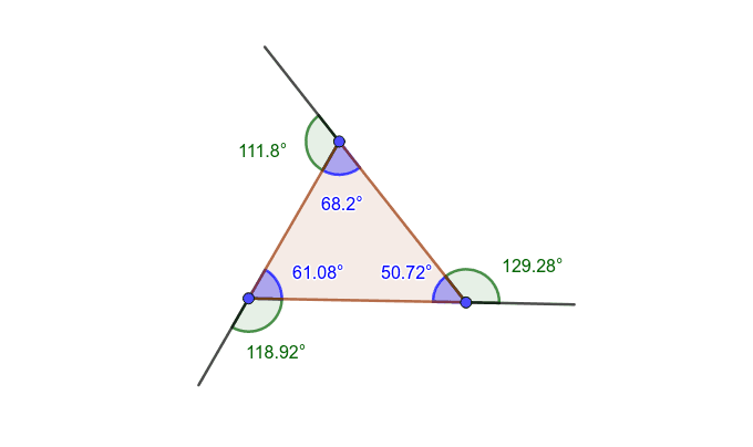 You may move any of the 3 blue points to change the size and angles of the triangle. Press Enter to start activity