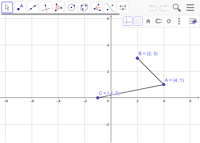 2. Construct Point D so that Quadrilateral ABCD is a Parallelogram. Justify your answer.  Press Enter to start activity