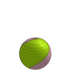 Spiral Screw Bisection of a Sphere