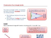 Construction d'un triangle isocèle