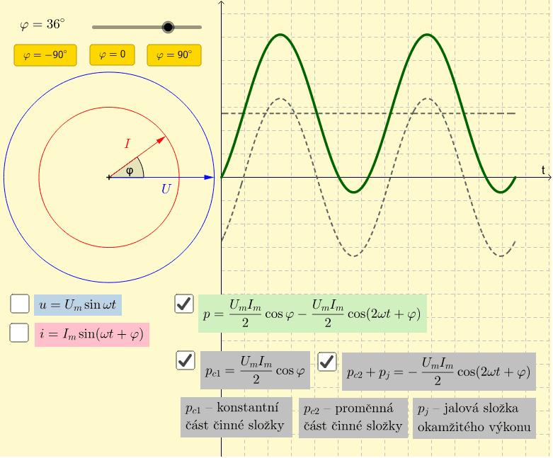 Vztah 3 - složení proměnné části činné složky s jalovou složkou Press Enter to start activity