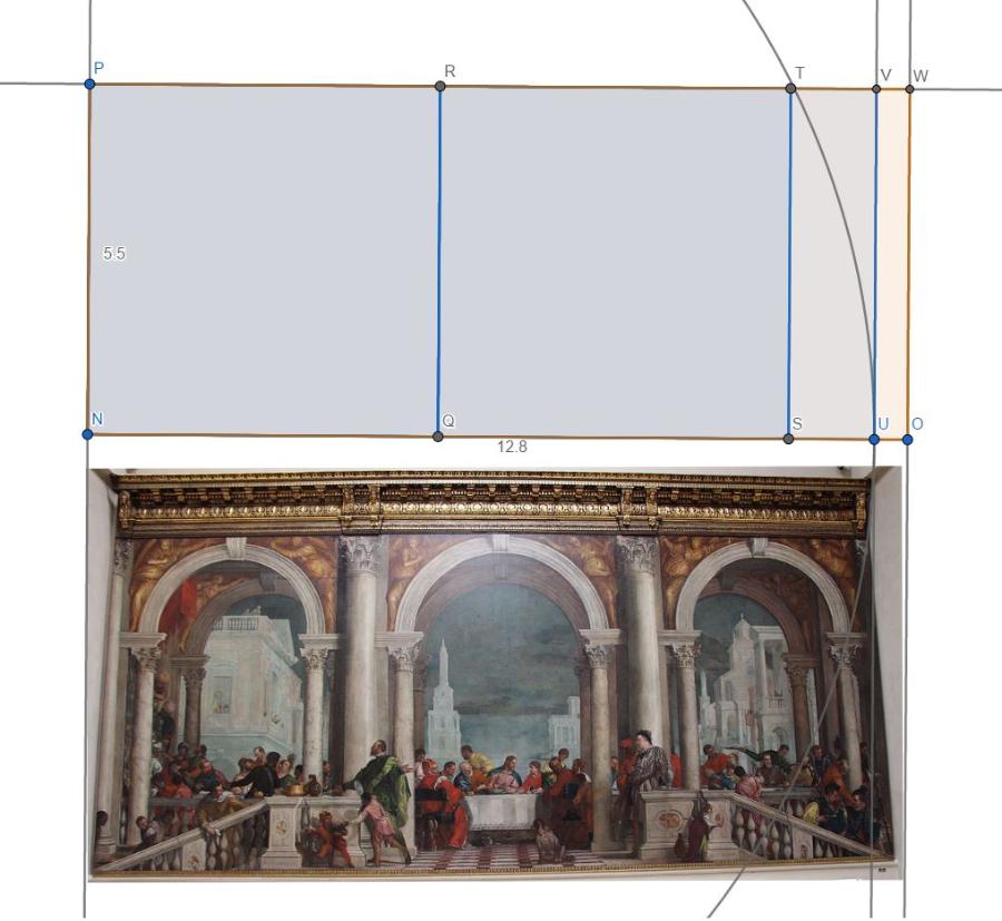 Primjena pravokutnika √5 na Veroneseovoj slici