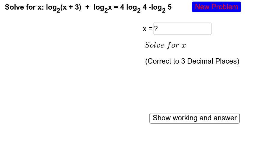 Try solving the following problems without the guided steps. Only click the 'show answer' button for checking of your steps and answers. Press Enter to start activity