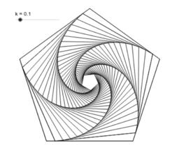 Nested pentagons