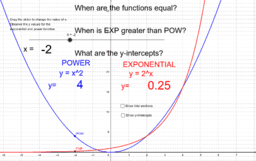 Compare Exponential and Power Function