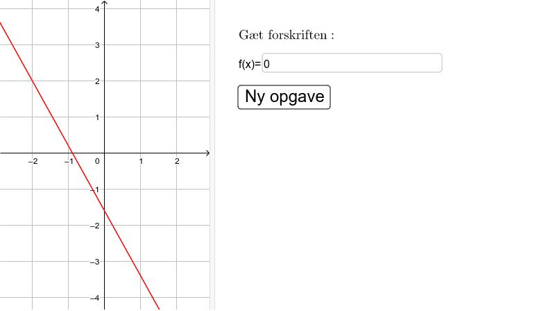 Vækstfunktioner: Gæt forskrift fra graf  Tryk Enter for at starte aktiviteten