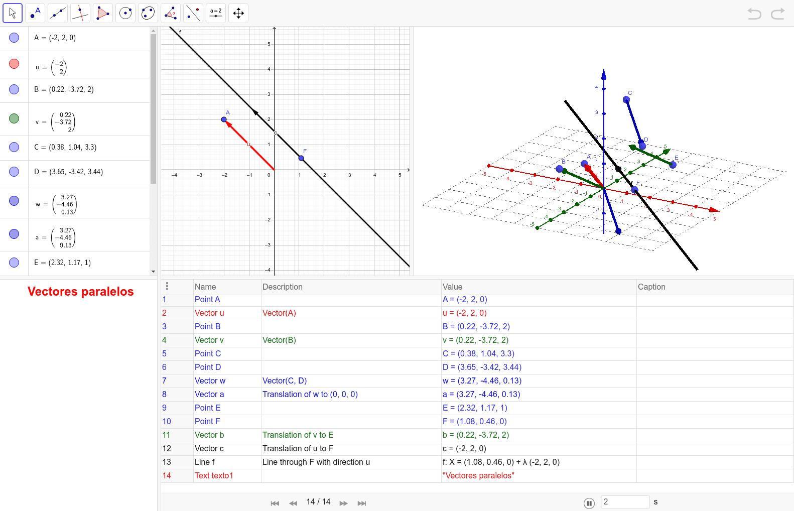 A partir de un vector dado se construye otros paralelos Presiona Intro para comenzar la actividad
