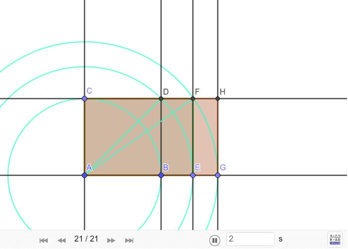 Konstrukcija sikstona ili pravokutnika √3 Pritisnite Enter kako bi pokrenuli aktivnost