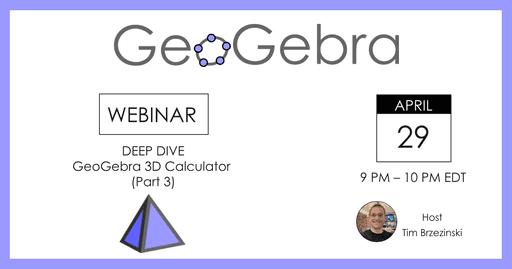 GeoGebra Webinar