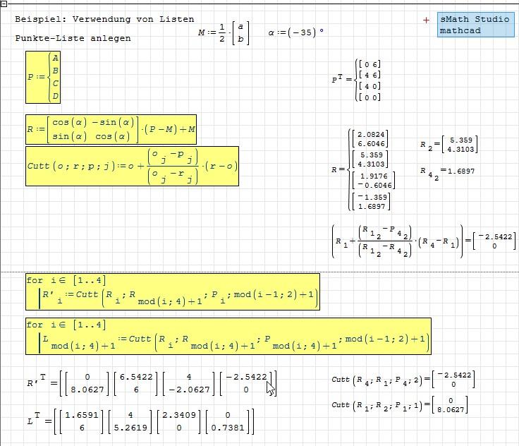 Mathcad Code