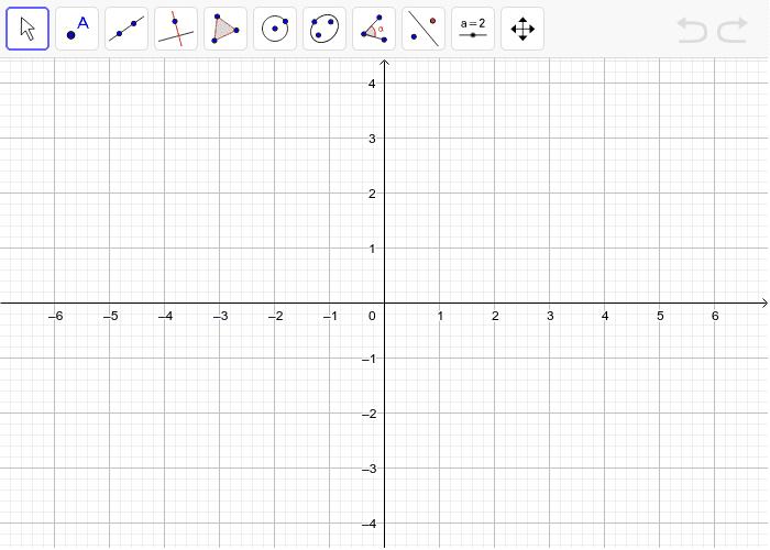 2. Nacrtaj trokut ABC i napravi osnu simetriju trokuta preko osi y kao osi simetrije. Pritisnite Enter kako bi pokrenuli aktivnost