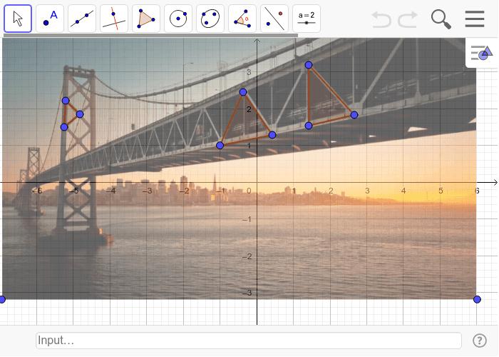Triangles in the Golden Gate Bridge Press Enter to start activity