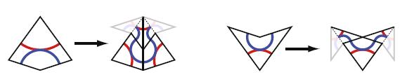 Een patroon van Penrose vliegers en pijlen kan je invullen met kleinere vliegers en pijlen.