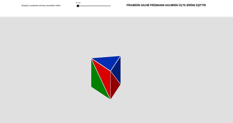 M.8.3.4.5. Dik piramidi tanır, temel elemanlarını belirler, inşa eder ve açınımını çizer. a) Somut modellerle çalışmalara yer verilir. b) Bilgi ve iletişim teknolojilerinden yararlanılabilir Etkinliği başlatmak için Enter'a basın