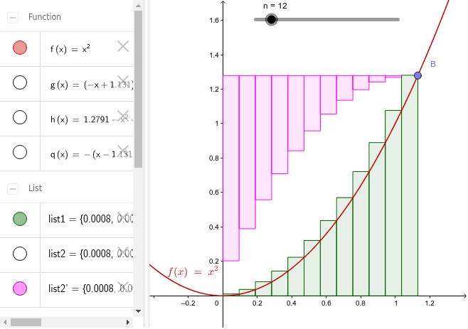 ピンク、うす緑それぞれの面積は同じ。残りの白い部分も同じになる。 ワークシートを始めるにはEnter キーを押してください。