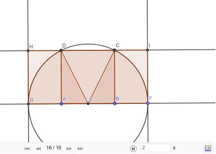 Konstrukcija pravokutnika √5 Pritisnite Enter za pokretanje.