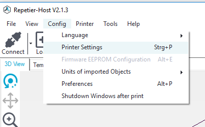 Settings about communicating with your 3D printer can be found in the printer settings