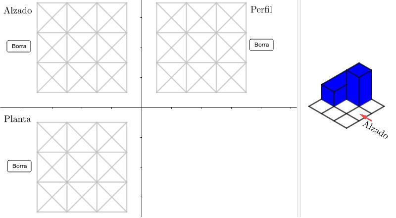 Pulsar sobre los segmentos hasta que el trazado coincida con el de las vistas de la figura de la derecha Presiona Intro para comenzar la actividad