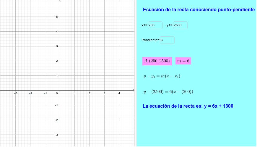 Ingresa los datos del ejercicio anterior y verifica con la ayuda de Geogebra Presiona Intro para comenzar la actividad
