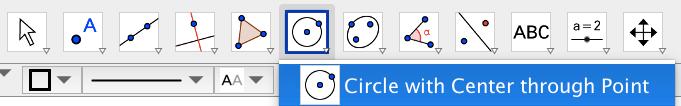 Draw a circle around the triangle.