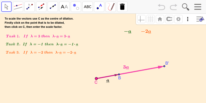 Multiplying by a scalar 1 Press Enter to start activity