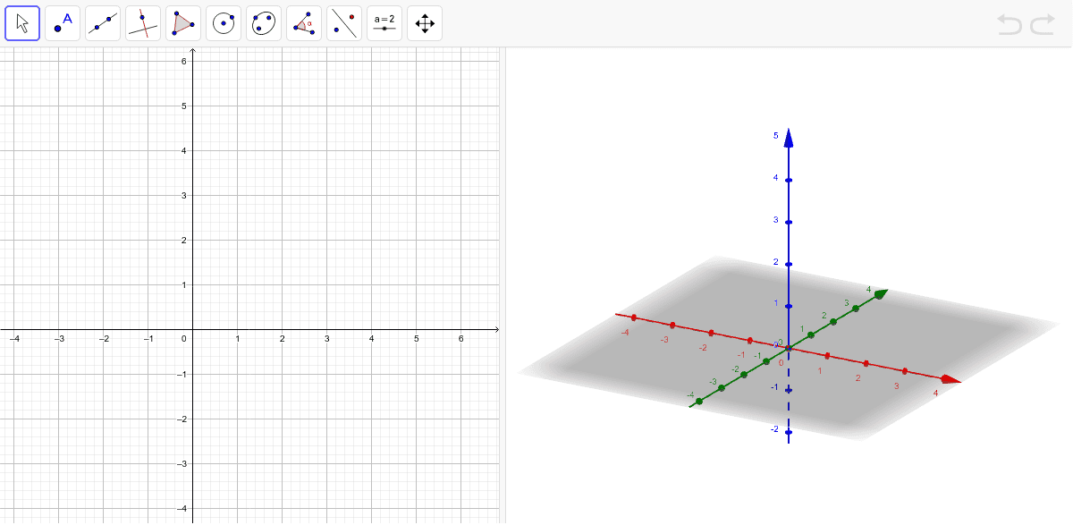"""Dibuja en el plano 3d el famoso """"tetraedro de las Bermudas"""" y observa cómo se ve en el plano 2d. Presiona Intro para comenzar la actividad"""