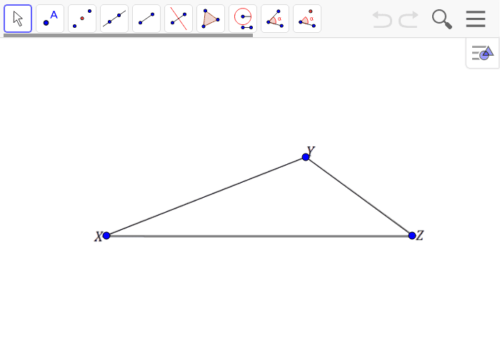 Create a scale drawing of triangle XYZ with a scale factor of r = 1/2 Press Enter to start activity