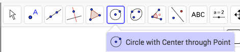 Construct the circle.