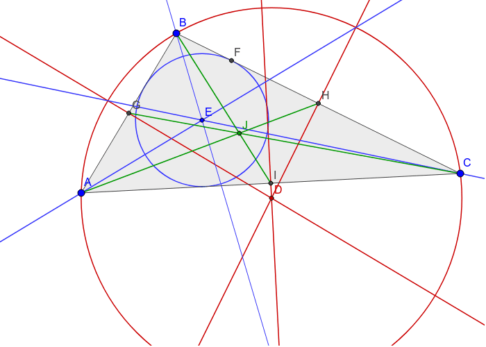 Medians (green) concurrent at the centroid (J) Press Enter to start activity