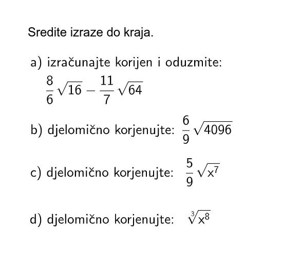 4. zadatak (8 bodova) Pritisnite Enter za pokretanje.