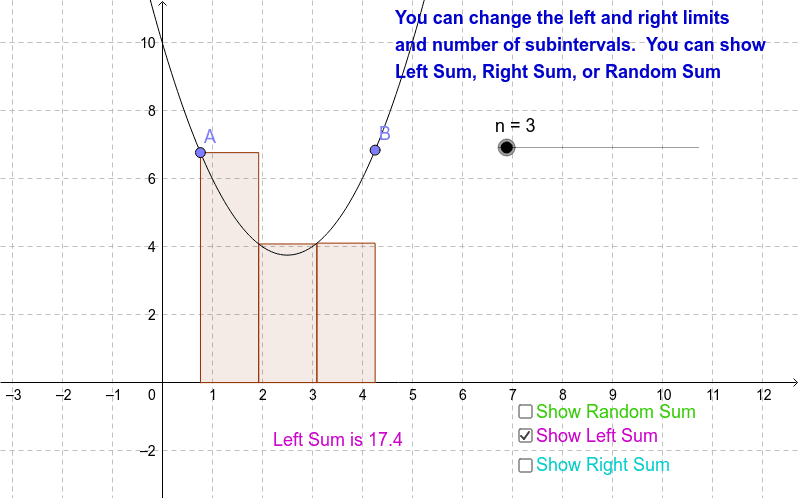 Riemann Sums Press Enter to start activity