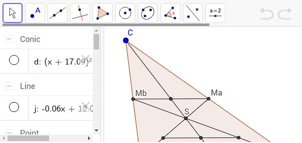Schwerpunkt eines Dreiecks Press Enter to start activity