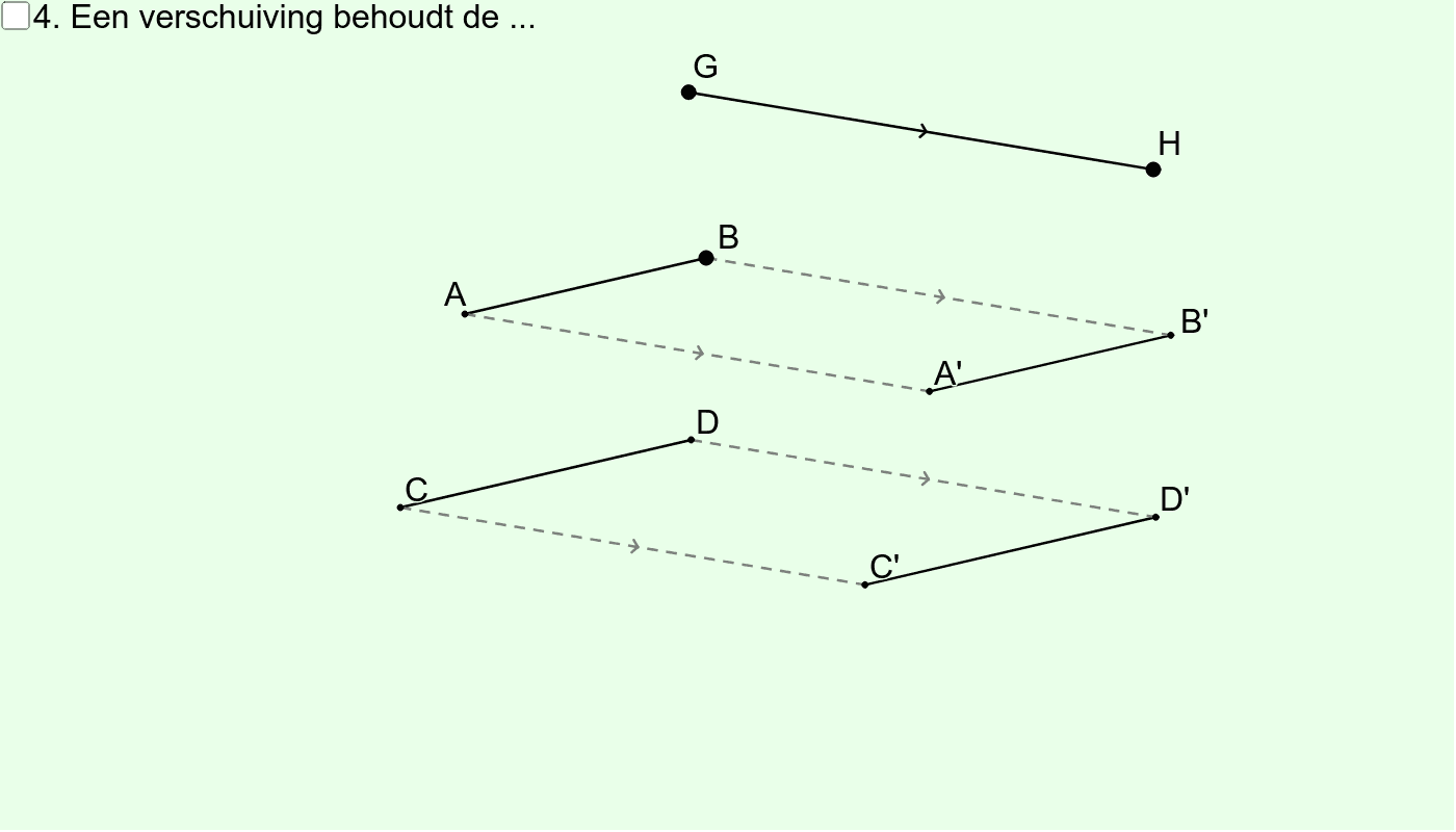 Verschuiving (Eigenschap nr. 4) Klik op Enter om de activiteit te starten