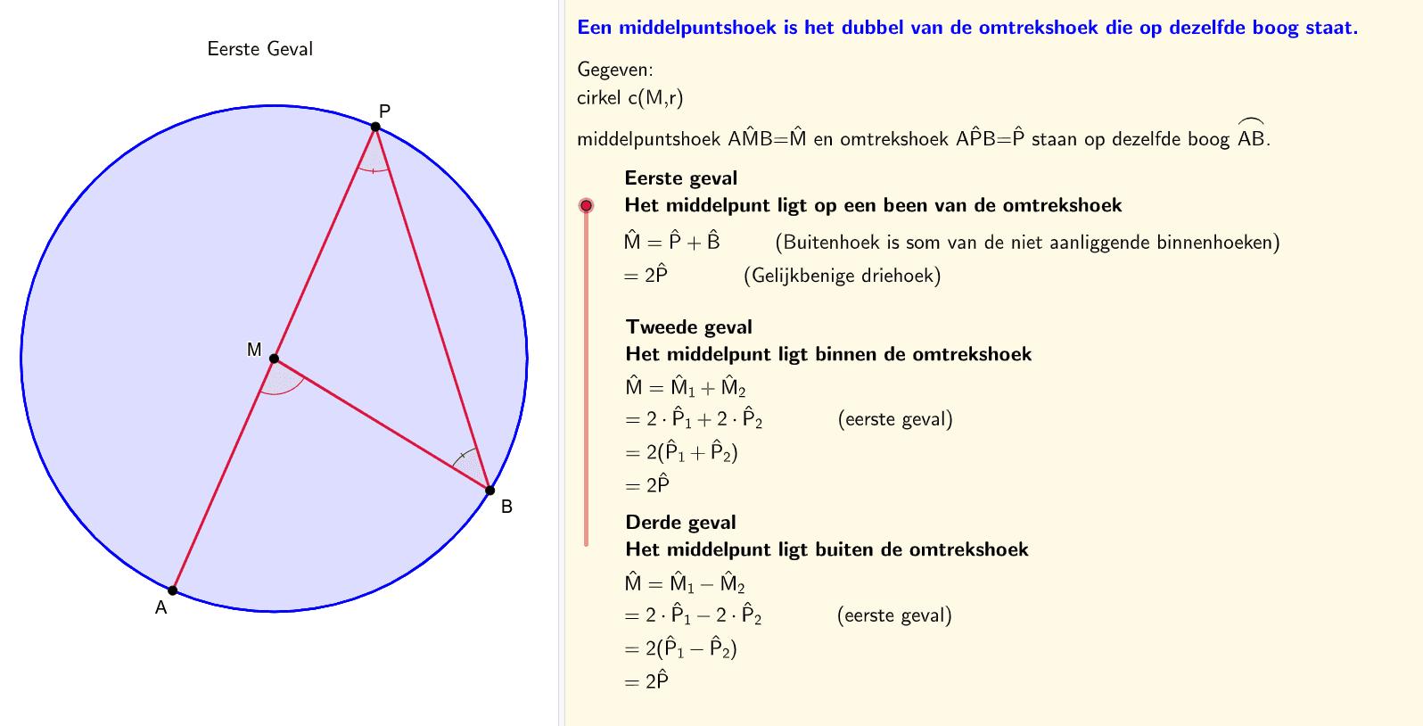 Eigenschap MH-OH  (Alternatieve formulering en bewijs) Klik op Enter om de activiteit te starten