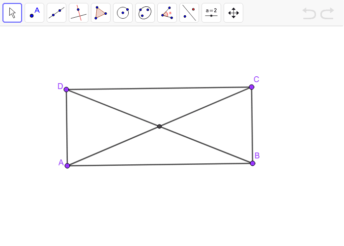 Rectangle with diagonals Press Enter to start activity