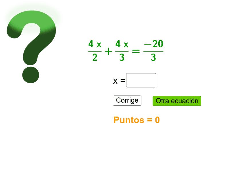 Encuentra el valor de x  Presiona Intro para comenzar la actividad