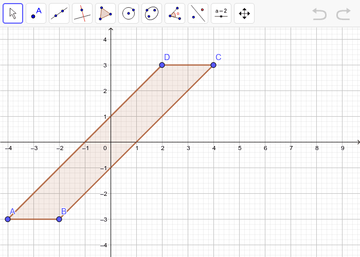 Graph the image of quadrilateral ABCD after a dilation with a scale factor of 2.  Press Enter to start activity