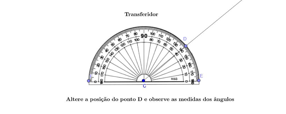 Medindo o ângulo com o Transferidor Press Enter to start activity