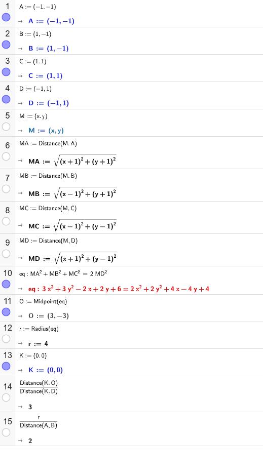 Koordinátageometria megoldás: Press Enter to start activity