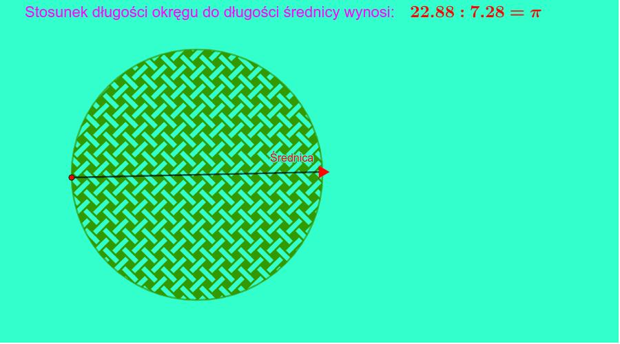 Długość średnicy możesz zmieniać za pomocą punktu oznaczonego strzałką. Naciśnij klawisz Enter, aby rozpocząć aktywność