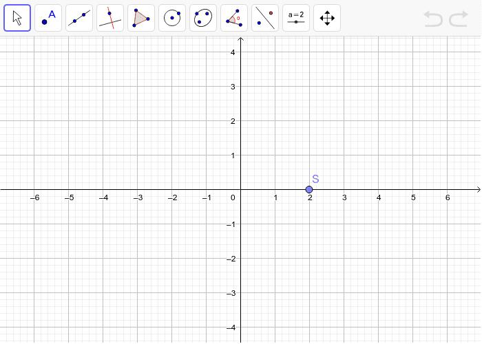 4. Zadaj si neku točku A i rotiraj je oko točke S za 120 stupnjeva u pozitivnom smjeru(znači suprotno od kazaljke na satu) Pritisnite Enter kako bi pokrenuli aktivnost